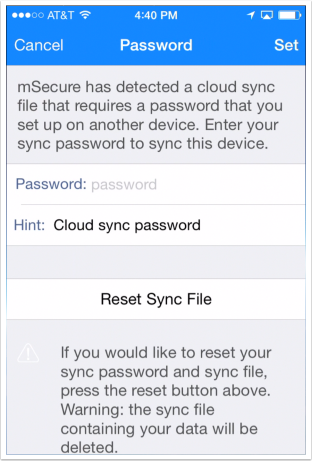 set-existing-cloud-sync-password